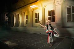 Классическая тайская настройка Monohra тип возникновения драмы танца стоковое фото rf