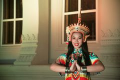 Классическая тайская настройка Monohra тип возникновения драмы танца стоковые фотографии rf