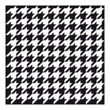 Классическая ткань houndstooth для одежды стоковая фотография rf