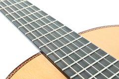Классическая шея гитары изолировала стоковое изображение rf