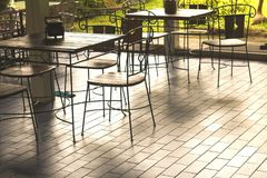 Классические деревянные столы Стоковые Фото