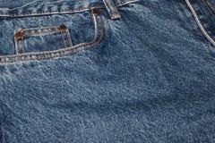 Классические джинсы с концом-вверх 5 карманов пробел для дизайна открытый космос для ваших логотипа и текста Грубая голубая текст стоковая фотография rf