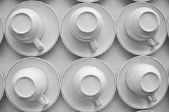 Классические керамические кофейные чашки Стоковая Фотография