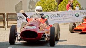 Классический автомобиль формулы на Бергаме историческом Grand Prix 2017 Стоковое Изображение RF