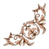 Классический барочный вектор орнамента Стоковые Изображения RF