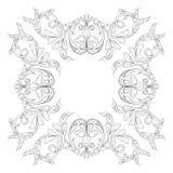 Классический барочный вектор орнамента Стоковая Фотография