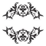Классический барочный вектор орнамента Стоковые Изображения