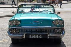 Классический/винтажный/старый автомобиль таймера в Гаване, Кубе Стоковые Изображения RF