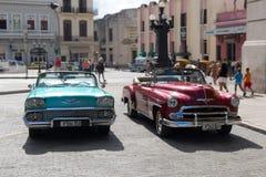 Классический/винтажный/старый автомобиль таймера в Гаване, Кубе Стоковые Фотографии RF