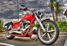 Классический мотоцикл Harley Davidson американца Стоковая Фотография RF