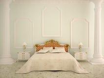 классический спать интерьера Стоковые Изображения