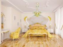 классический спать интерьера Иллюстрация вектора