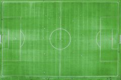 Классический стадион от вида с птичьего полета взгляд трутня Зеленое Footbal Стоковые Фотографии RF
