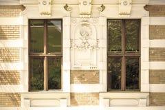 Классический фасад в вене стоковая фотография rf