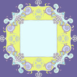 классический цветастый декоративный сбор винограда рамки Стоковые Изображения RF