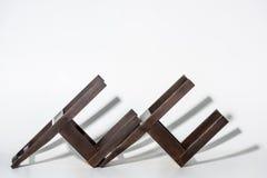 2 классических темных деревянных стуль Стоковые Изображения RF