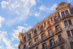 Классическое каталонское здание, Стоковая Фотография
