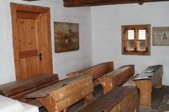 Класс в доме в деревне в под открытым небом музее Стоковое Изображение