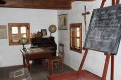 Класс в доме в деревне в под открытым небом музее Стоковая Фотография