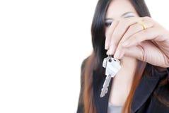 класть дела изолированный рукой ключевой Стоковое Изображение RF
