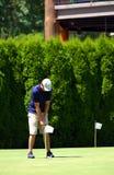 класть игрока в гольф Стоковые Изображения RF
