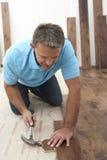 класть настила строителя деревянный Стоковое Изображение