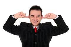 класть человека перстов ушей стоковое фото rf