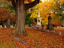 кладбище осени Стоковое фото RF