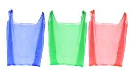 кладет пластичную покупку в мешки Стоковое Изображение