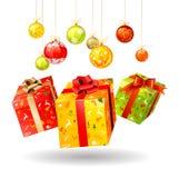 кладет рождество в коробку Стоковые Изображения RF