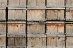 кладет древесину в коробку Стоковые Фото