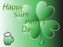 Клевер дня St Patty удачливейший Стоковые Фото