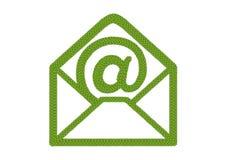 Клевер 4 листьев открытой иконы габарита с на знаком Стоковые Фото