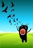 клекот свободы Иллюстрация штока