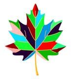 Кленовый лист красочного шаржа multicolor бесплатная иллюстрация