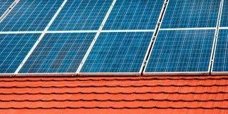 Клетки панелей солнечной энергии Стоковое Изображение RF
