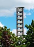клетчатая башня часов Стоковое Изображение