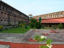 клетчатая тюрьма Индии предпосылает взгляду Стоковое фото RF