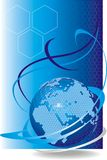 клетчатый вектор глобальной вычислительной сети Стоковые Фото