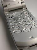 клетчатый серебр телефона flip стоковые фотографии rf