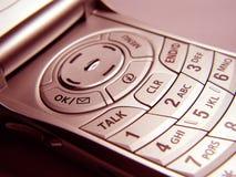клетчатый телефон крупного плана Стоковые Изображения RF
