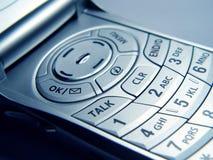 клетчатый телефон крупного плана стоковое фото