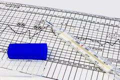 клинический термометр стоковое изображение rf