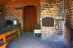 Клинч форта было современным местом назад в более последнем 1800's с последней кухней стоковые фото