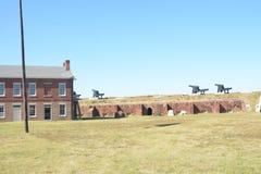 Клинч форта был построен как часть третьей системы обороны берега моря понятой Соединенными Штатами стоковое фото rf