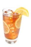 клиппирование заморозило изолированный чай путя лимонов Стоковое Изображение RF