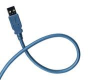 клиппирование кабеля включая usb штепсельной вилки путя Стоковое Изображение RF