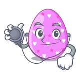 Клиппирование мультфильма пасхального яйца доктора на пути иллюстрация штока