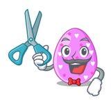 Клиппирование мультфильма пасхального яйца парикмахера на пути иллюстрация вектора