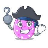 Клиппирование мультфильма пасхального яйца пирата на пути иллюстрация штока